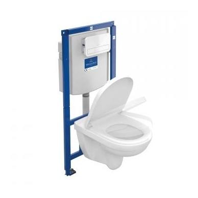 Villeroy & Boch ViConnect rėmo ir O.Novo pakabinamo WC su DirectFlush komplektas