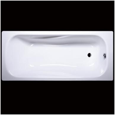 Vispool Classica akmens masės vonia, 180 x 75 cm, su sifonu, balta 2