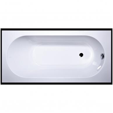 Vispool Libero akmens masės vonia, 170 x 80 cm,su sifonu, balta 2