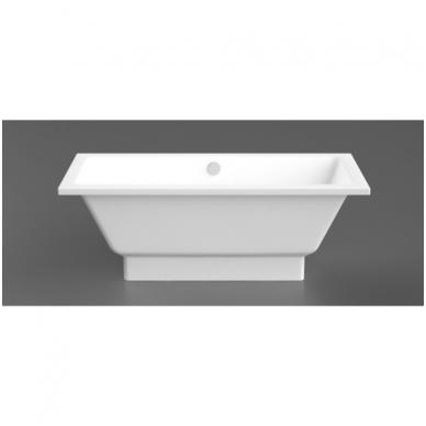 Vispool Nordica akmens masės vonia, 170 x 75 cm, balta