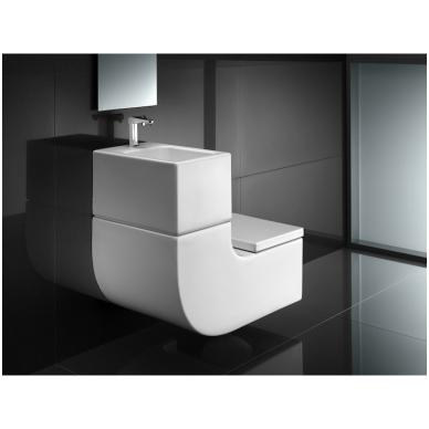 Roca W + W pakabinamas praustuvas kartu su WC, baltas