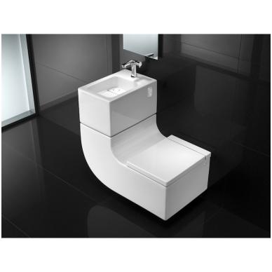 Roca W + W pakabinamas praustuvas kartu su WC, baltas 2